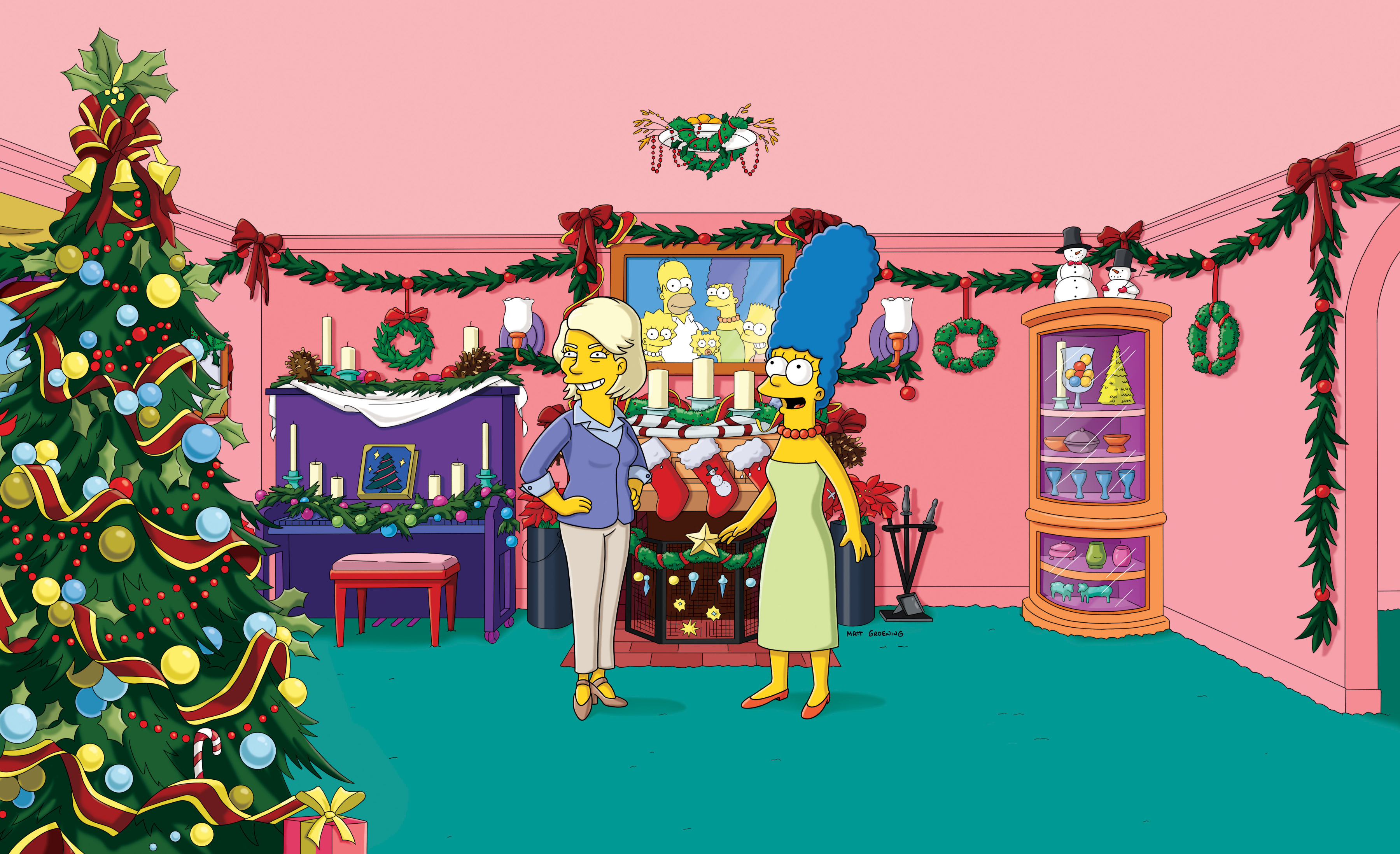 Simpsons Christmas g wallpaper | 3600x2196 | 184464 ...
