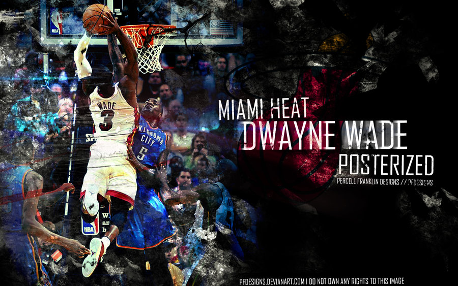 Dwyane Wade Dunk Wallpaper 2013 Dwayne wade by pfdesigns 900x563