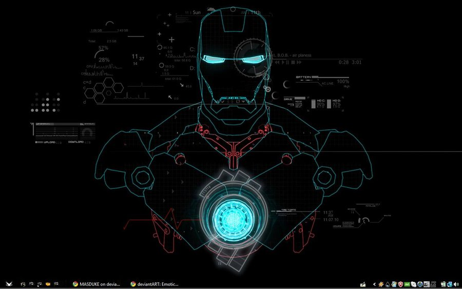 35 Iron Man Hd Wallpapers For Desktop: Jarvis Iron Man Wallpaper HD