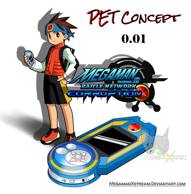 MMBN Corruption PET Artwork Concept 001 by Mega X stream on 800x812
