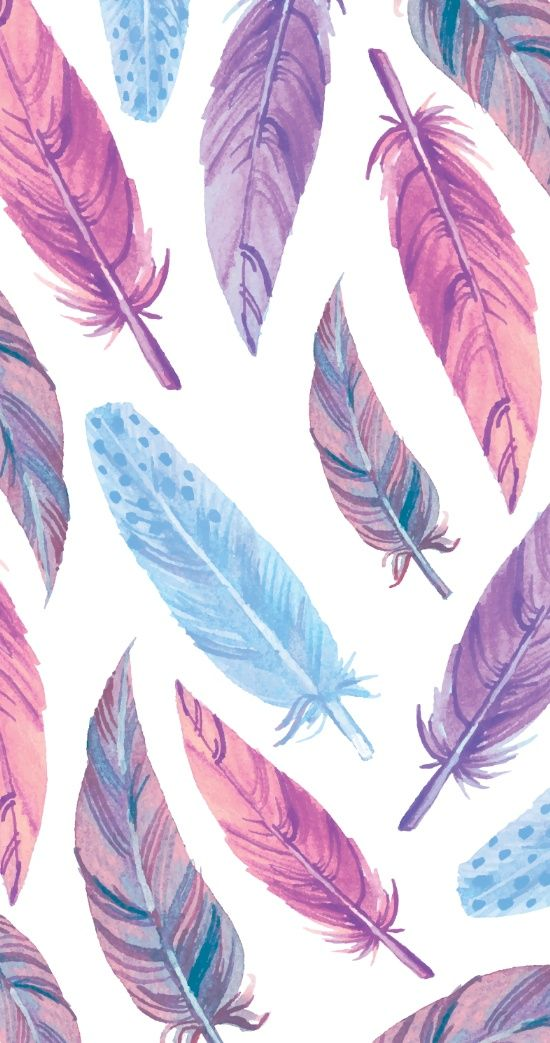 Watercolor feathers Art Print Feathers Feather wallpaper 550x1043