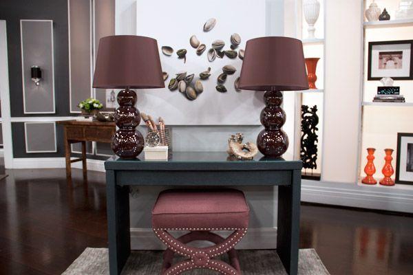DIY faux leather console table DECOR Pinterest 600x400