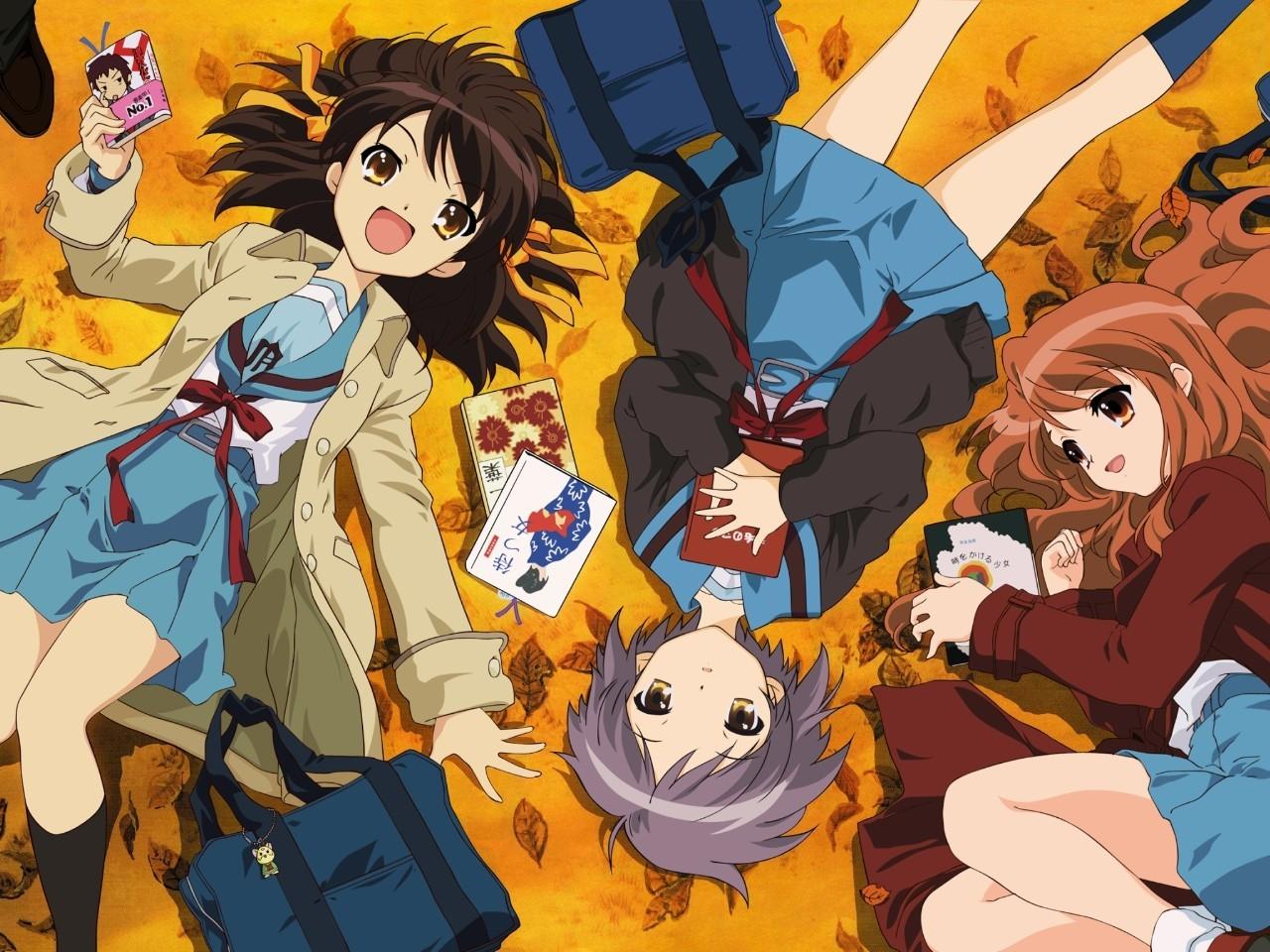 Anime Couple The Melancholy Of Haruhi Suzumiya Fall Wallpapers 1280x960