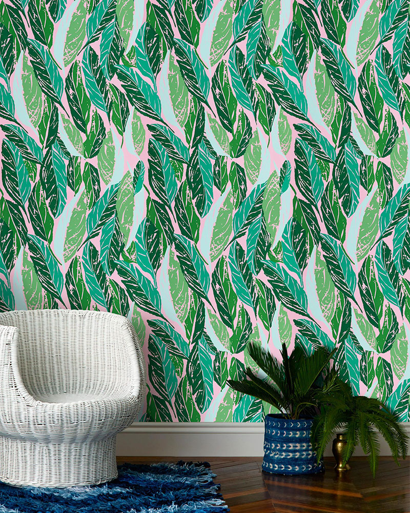 Bananas for This Banana Leaf Wallpaper   Kelly Golightly 800x1000