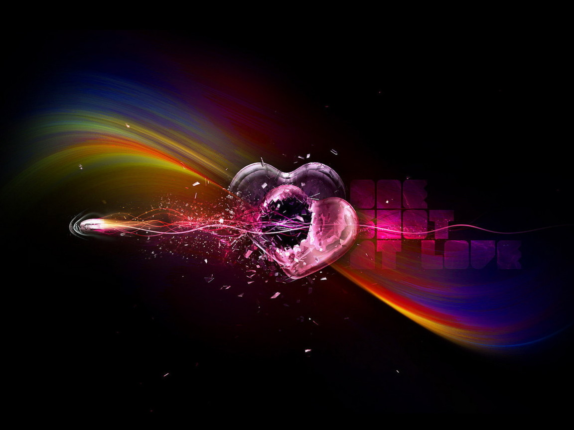 wallpaper best size 3D graphichs Broken Heart 1152x864