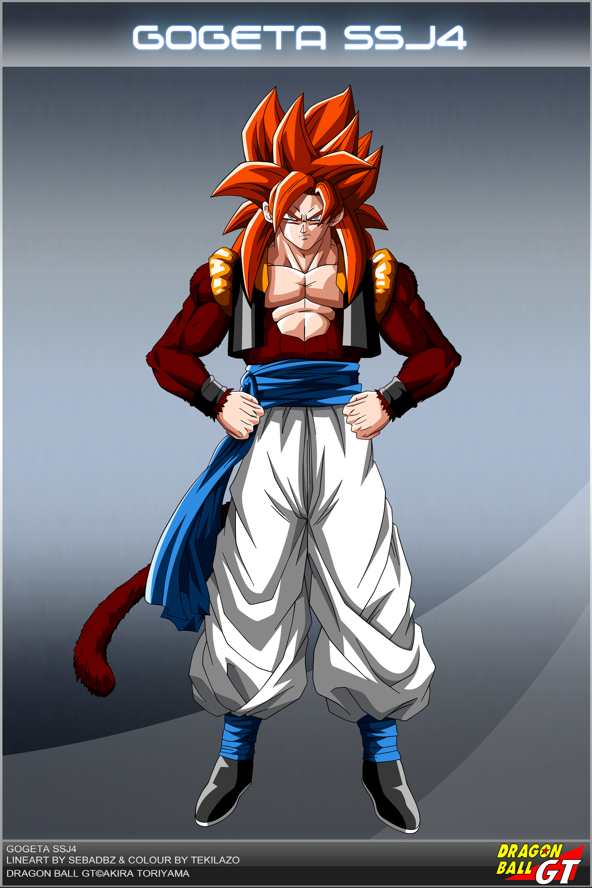 Dragon Ball GT   Gogeta SSJ4 OV by DBCProject 1942x2913