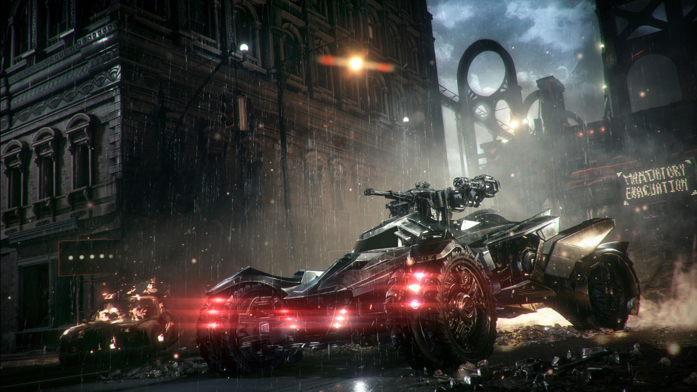 Batmobile in Arkham Knight Wallpapers HD Wallpapers 1366x768