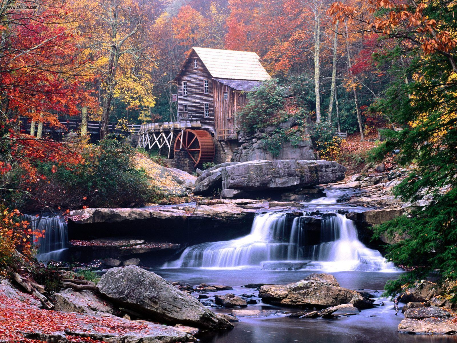 Known places Glade Creek Grist Mill Babcock State Park West Virginia 1600x1200