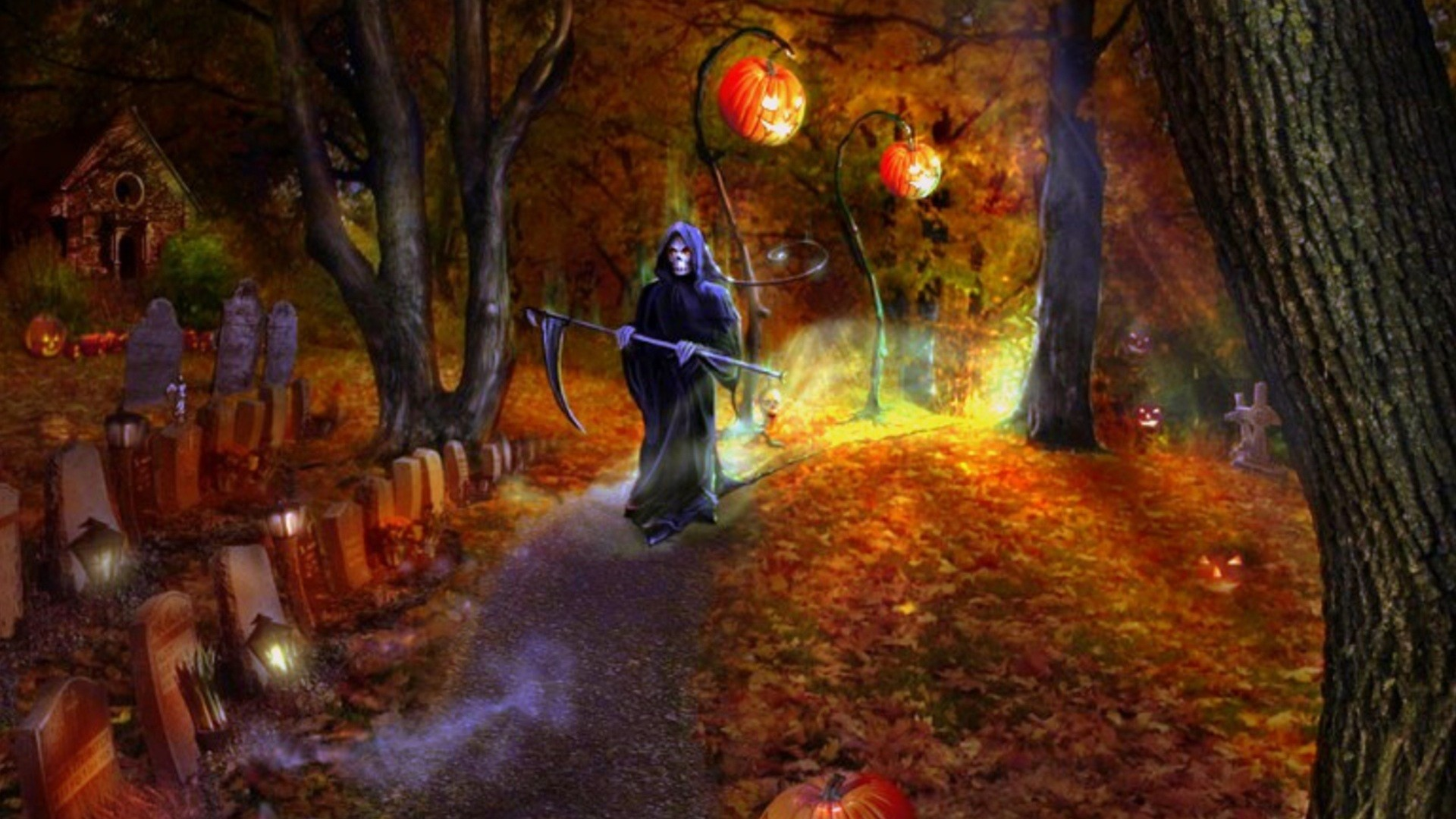 Scary Halloween Wallpapers and Screensavers 58 images 1920x1080