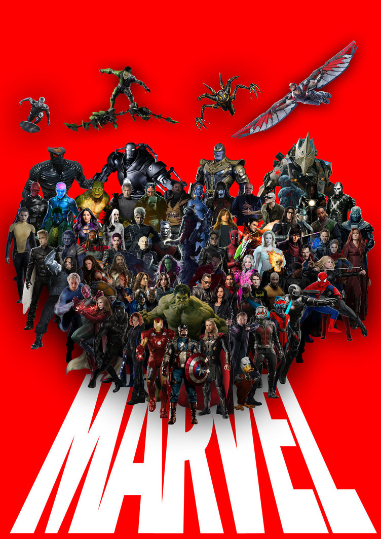 Marvel Cinematic Universe Disney FOX Sony by Natan 752x1063