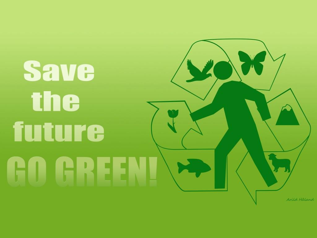 1024x768 Save the future   GO GREEN desktop PC and Mac wallpaper 1024x768