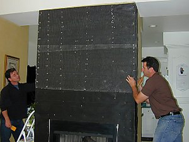 How to Install a Manufactured Stone Fireplace 616x462