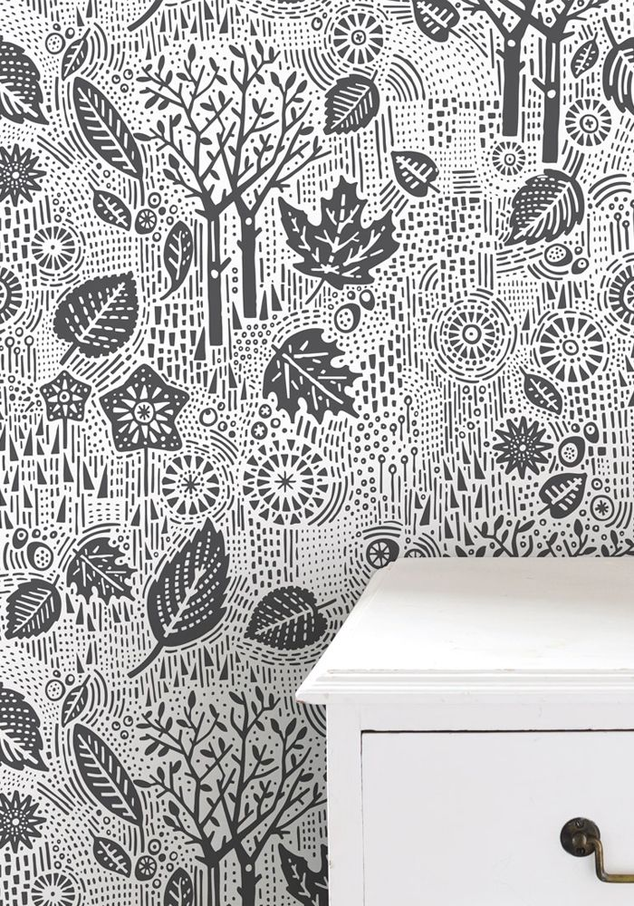 Wallpaper Autumn   Charcoal by Bold Noble at BODIE and FOU 700x1000