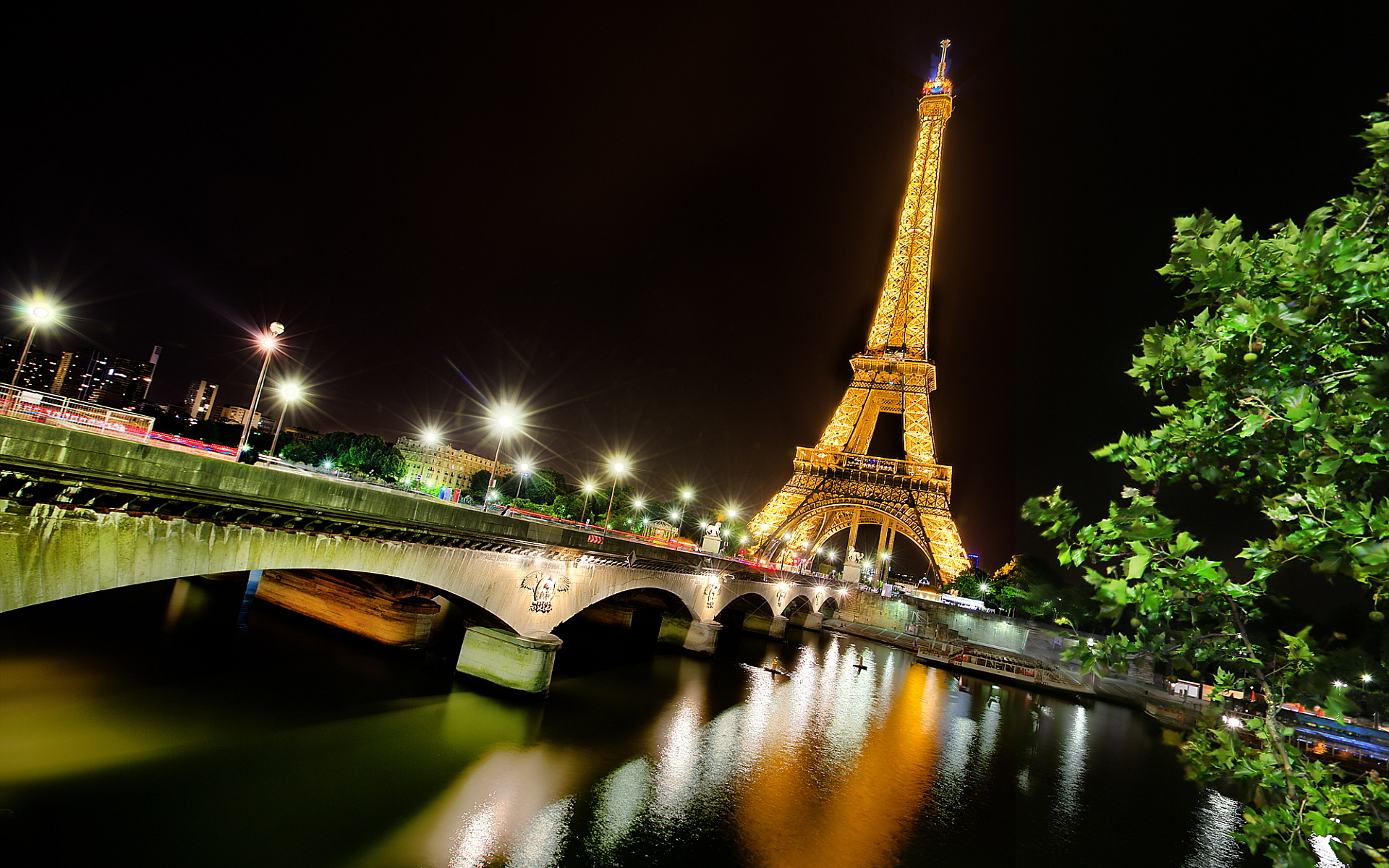 Eiffel Tower wallpapers at Night Wallpapers Backgrounds Images 1920x1200