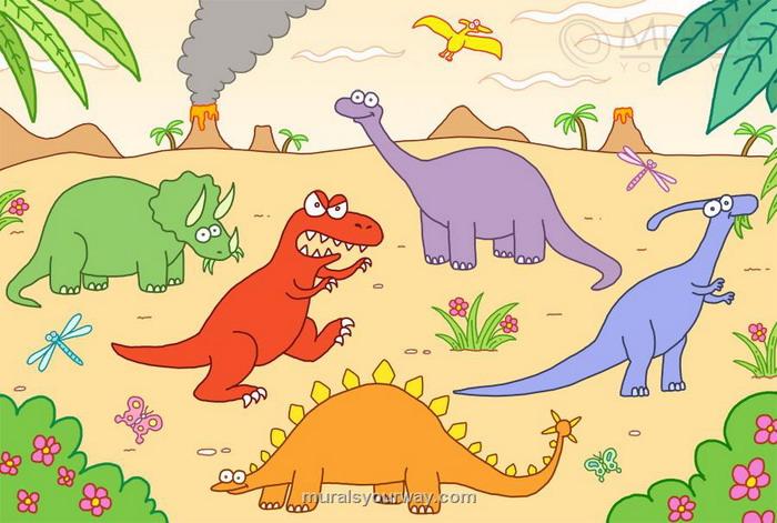 dinosaur wallpaper for kids room wallpapersafari