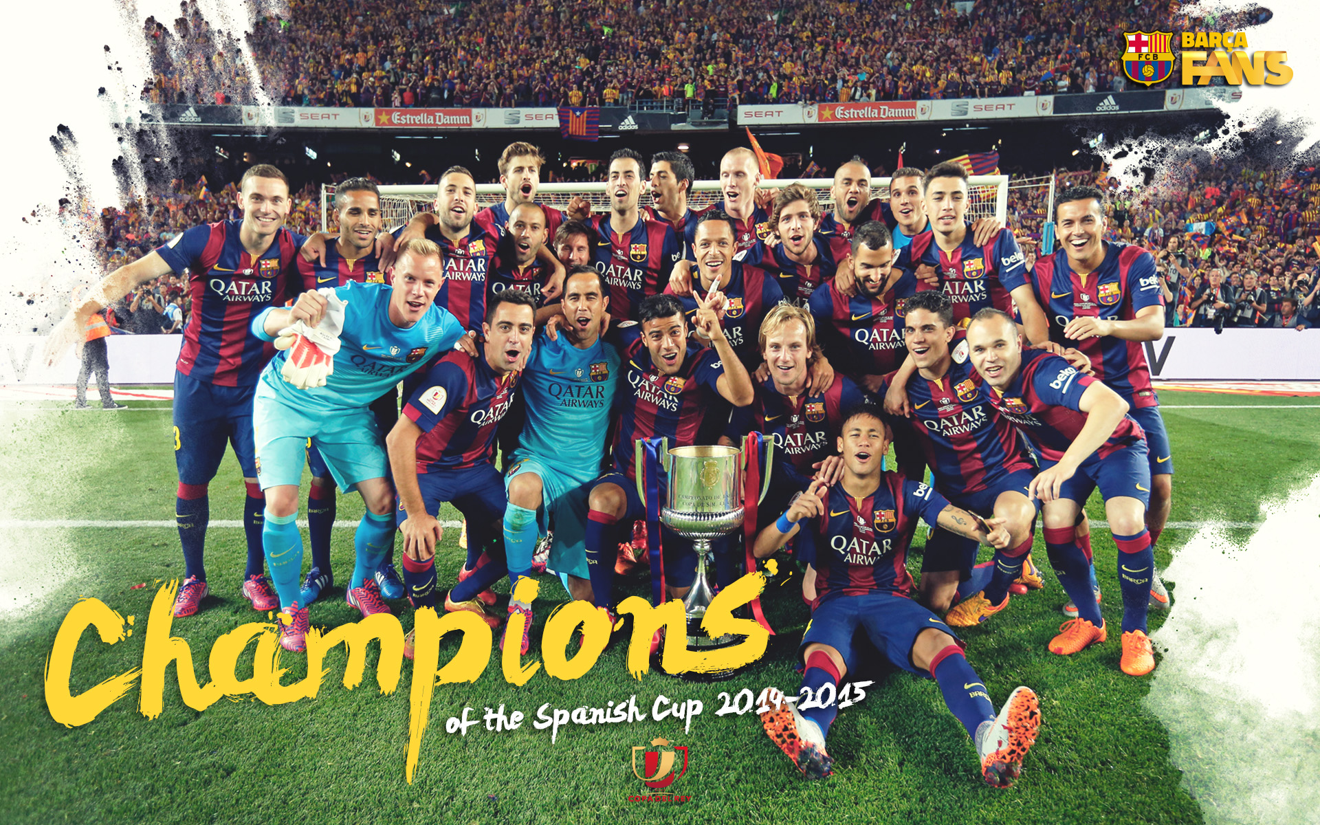 FC Barcelona 2015 Champions League Winners click to view 1920x1200