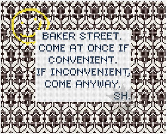Sherlock quote with wallpaper pattern border by CapesAndCrafts 230 570x456