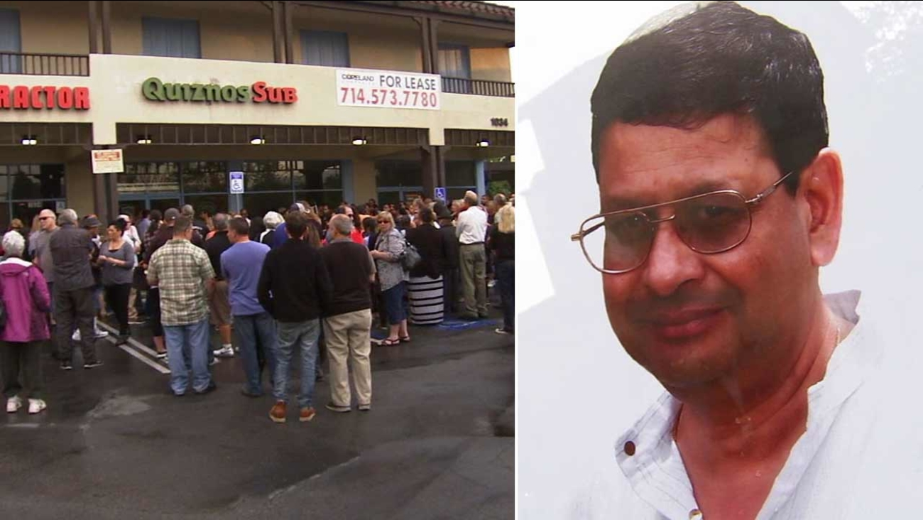 Vigil held for Quiznos owner fatally shot durring robbery in San 1300x732