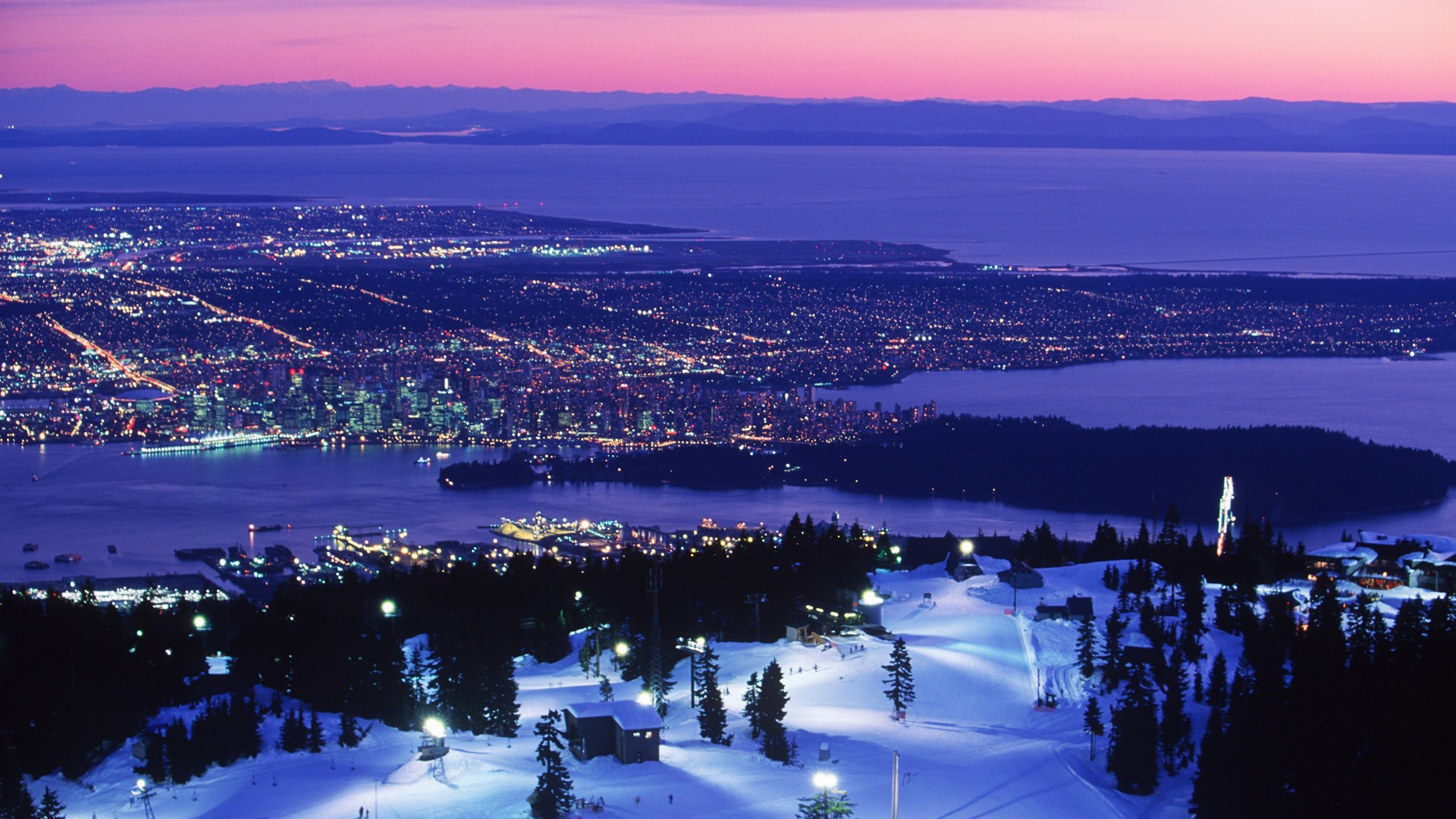 Vancouver Snow HD Wallpaper Background Images 1920x1080