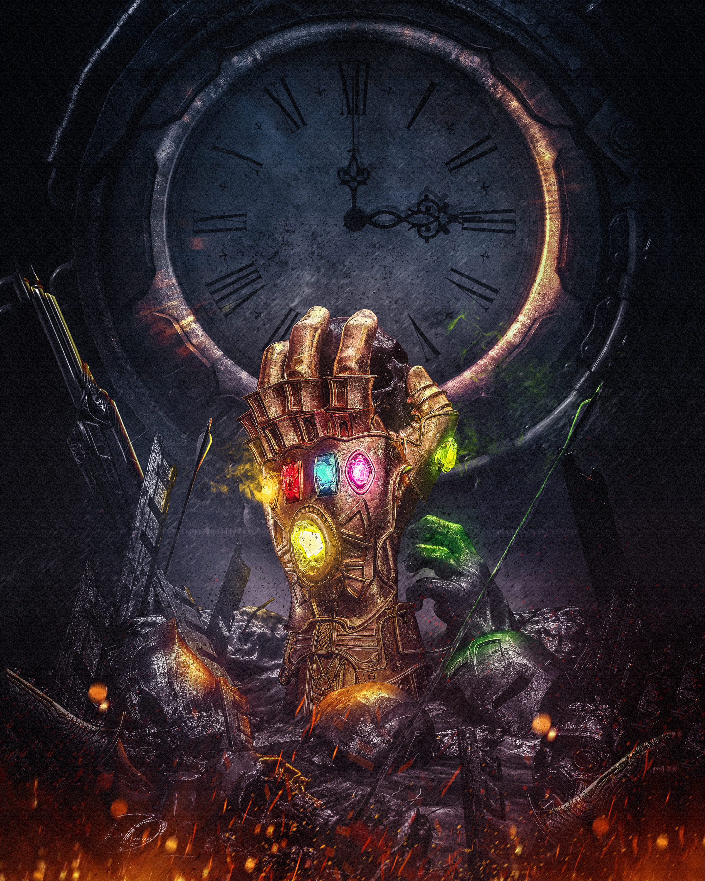 Tribute to Avengers Infinity War Thanos hand   Goodynest 2400x3000