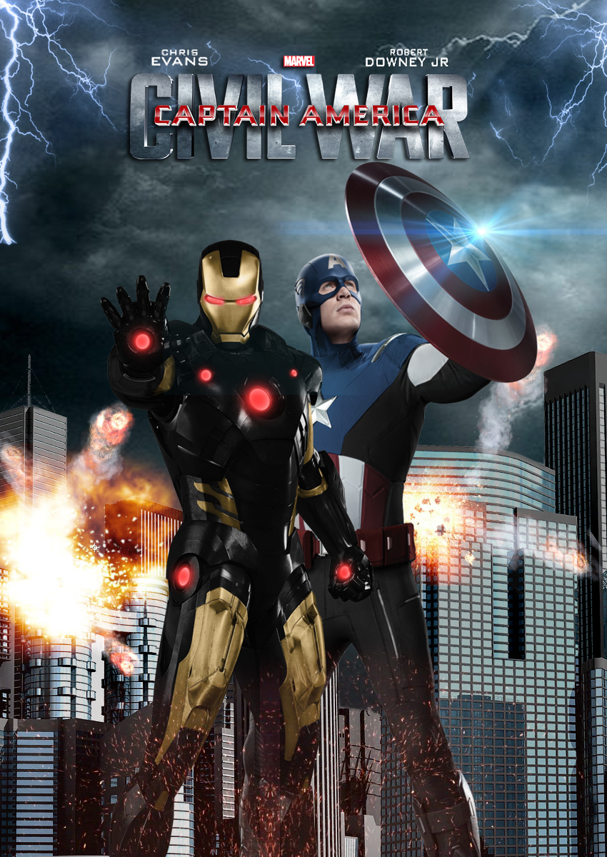 Captain America Civil War Poster 1 by OAKANSHIELD 850x1200