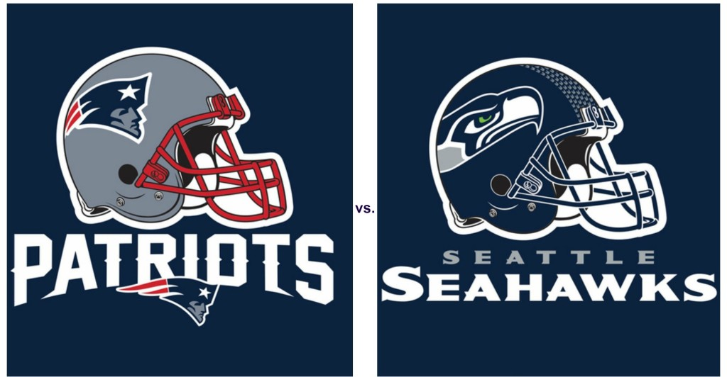 Super Bowl 2015 Patriots vs Seahawks Party Supplies 1024x532