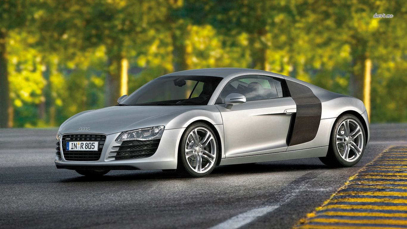 Parked Audi R8 V10 wallpaper   Car wallpapers   42727 1366x768