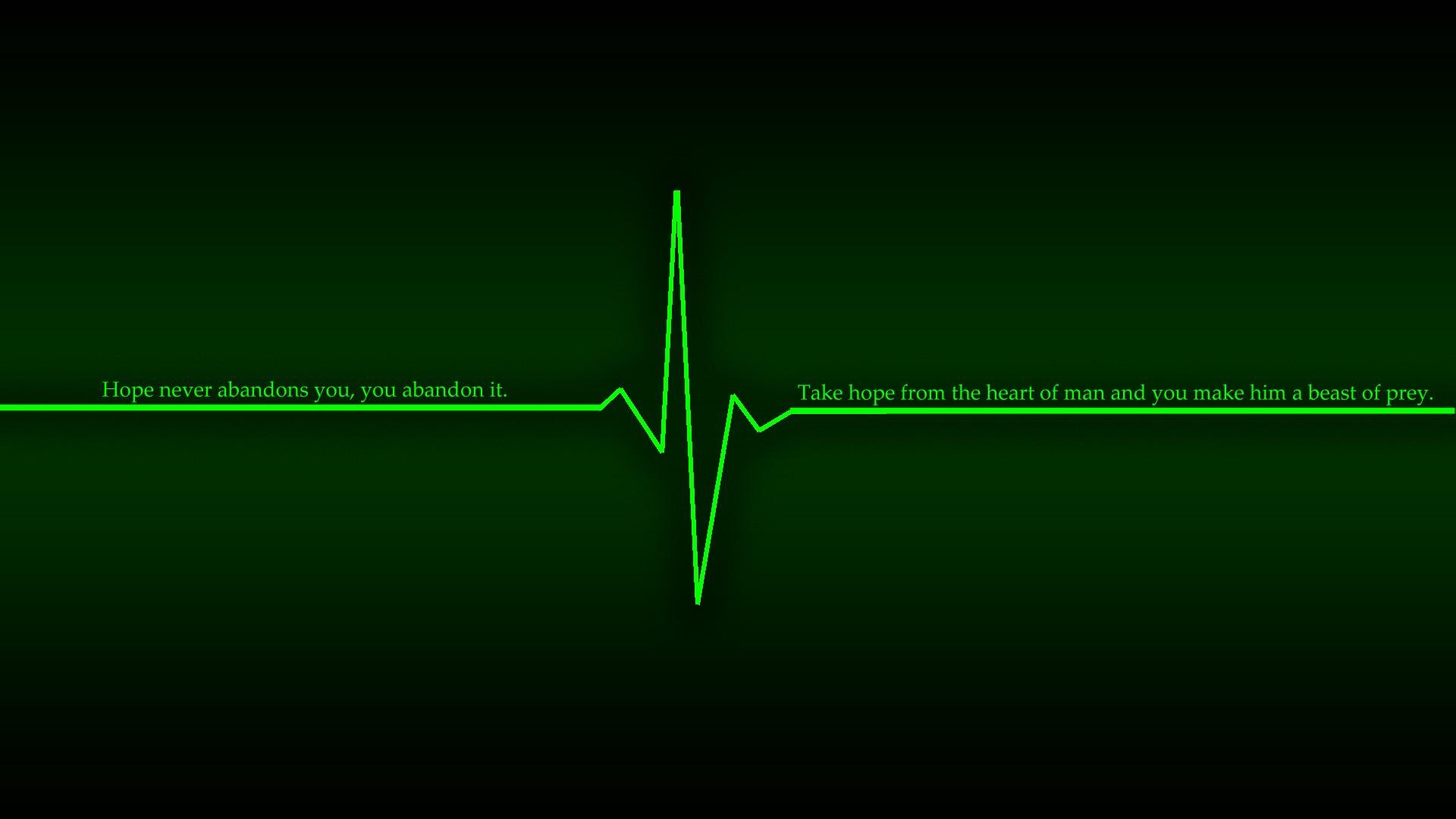 Green Dark Wallpaper 1920x1080 Green Dark Quotes Hope Heart Beat 1920x1080