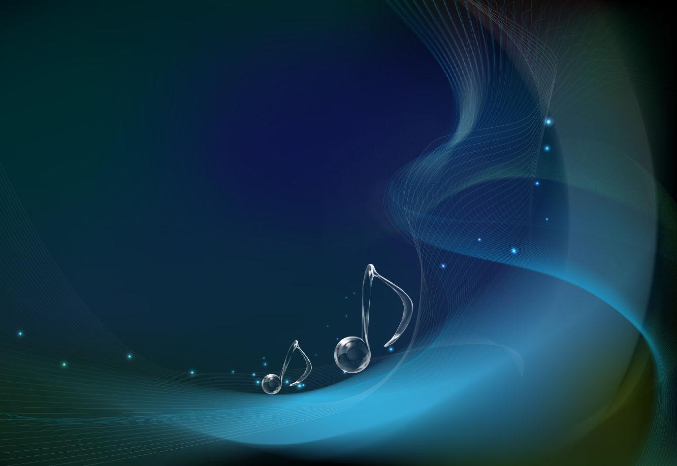 Music Notes Wallpaper: Blue Music Notes Wallpaper