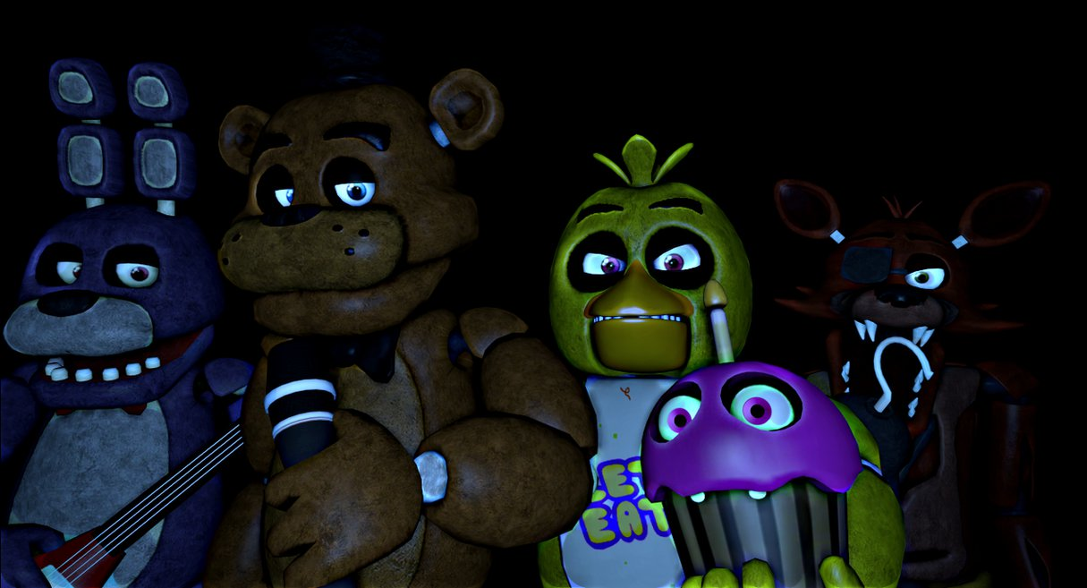 Scrap] FNAF 1 Wallpaper by xXDead NinjaXx 1215x657