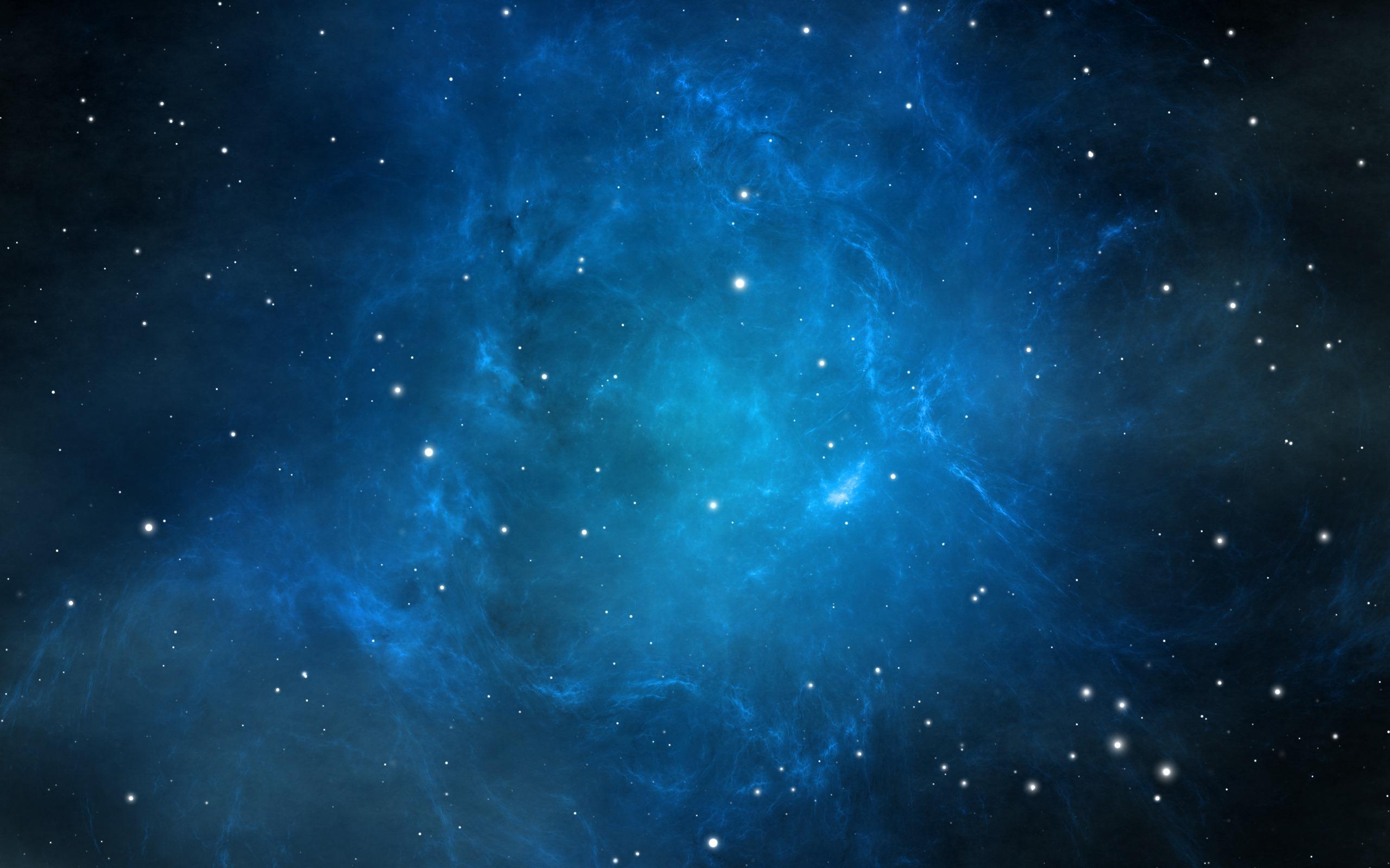 Stars In Blue Background Hd Wallpaper Wallpaper List 2560x1600