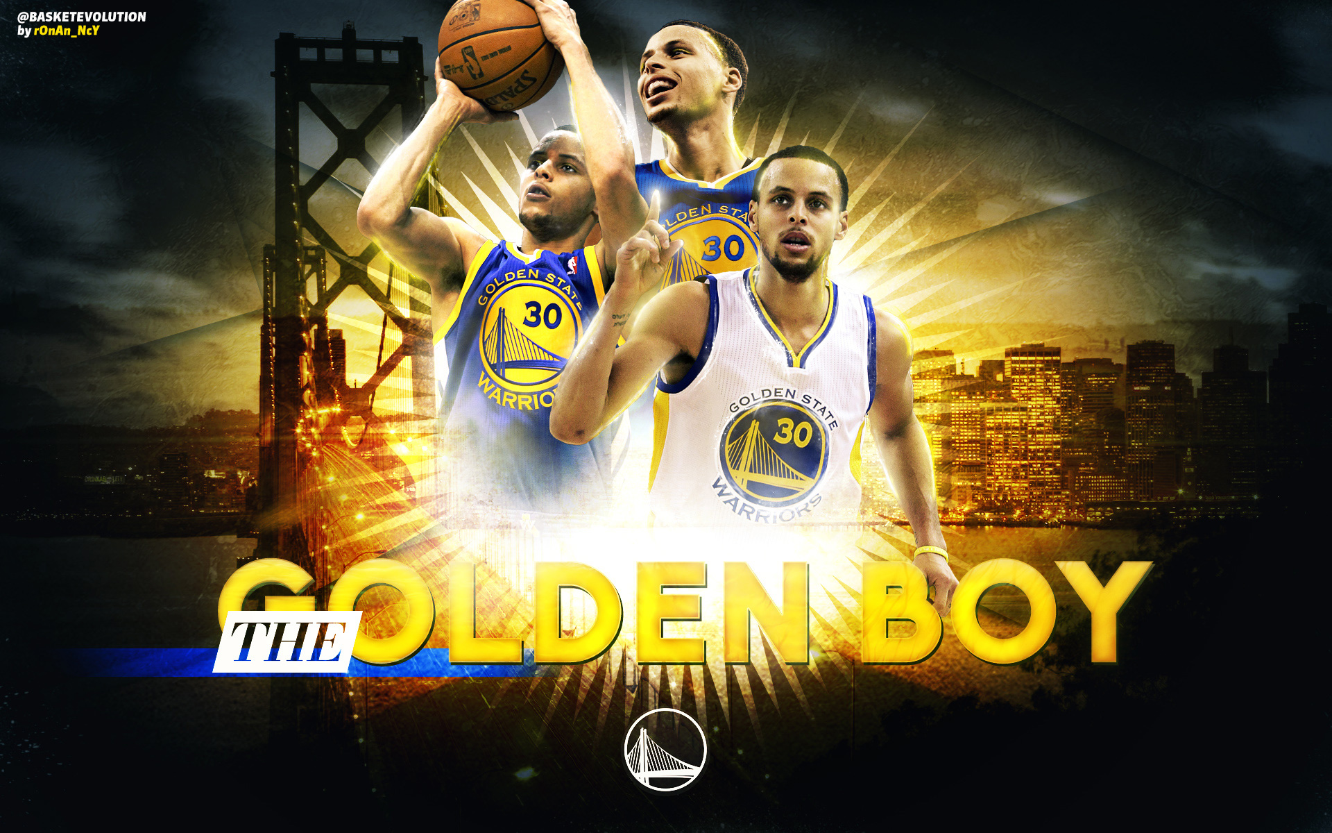 Stephen Curry The Golden Boy 2015 Wallpaper Basketball 1920x1200