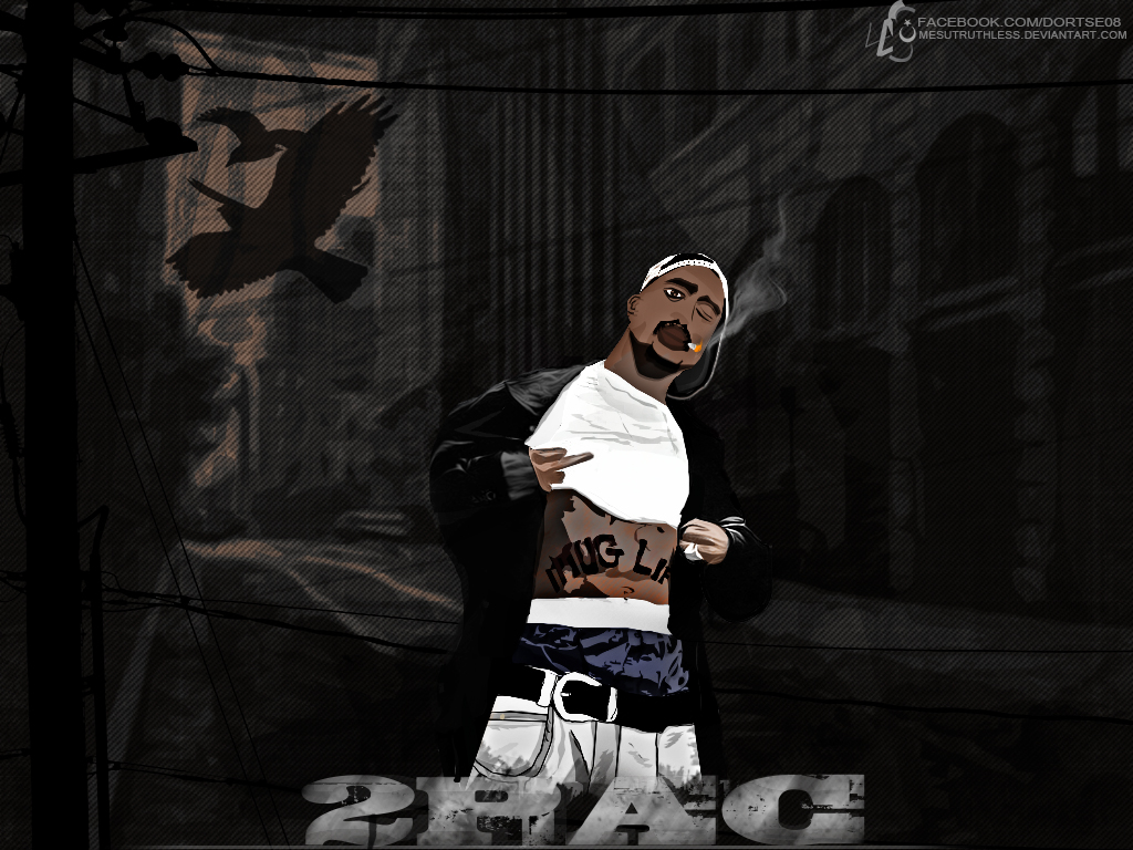 2PAC wallpaper by mesutruthless on deviantART 1024x768