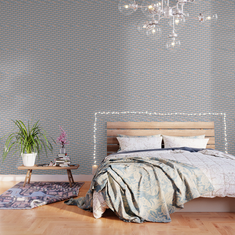 ENFJ Trendy Rainbow Text Pattern Blue Wallpaper by thelightfield 1500x1500