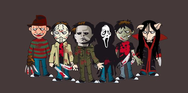 Horror Icons Modern horror icons art print 600x296