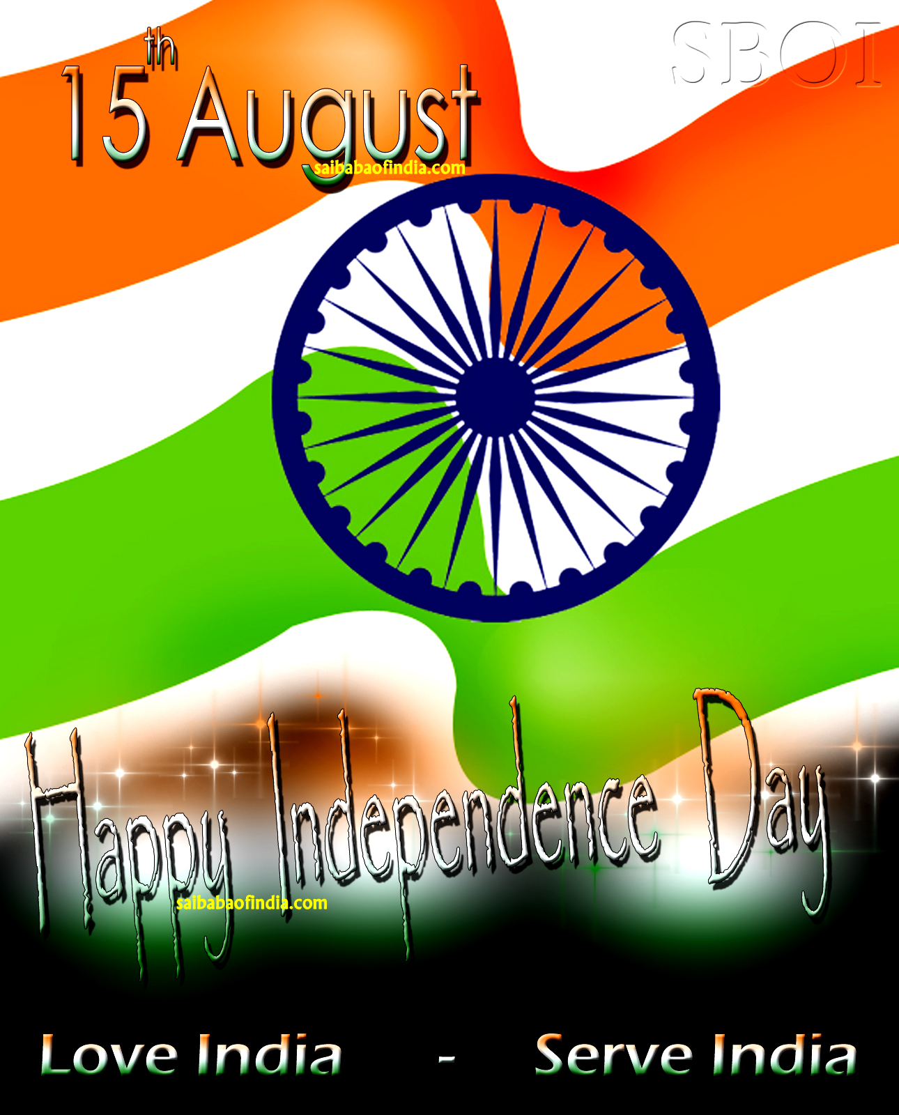 Independence day wallpapers greeting cards 15th August  Sai Baba 1290x1600
