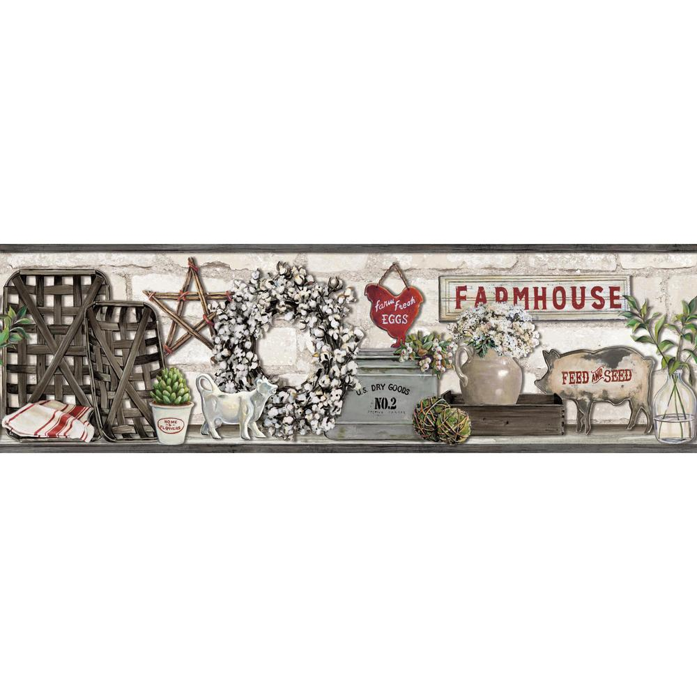 14 Farmhouse Wallpaper Border On Wallpapersafari