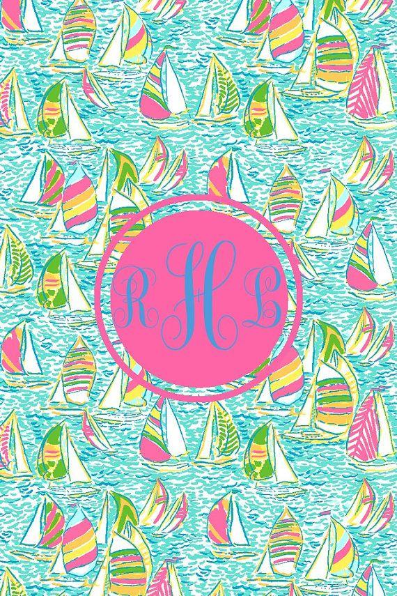Monogram phone wallpaper by PunkRockSororityGirl on Etsy 200 570x855