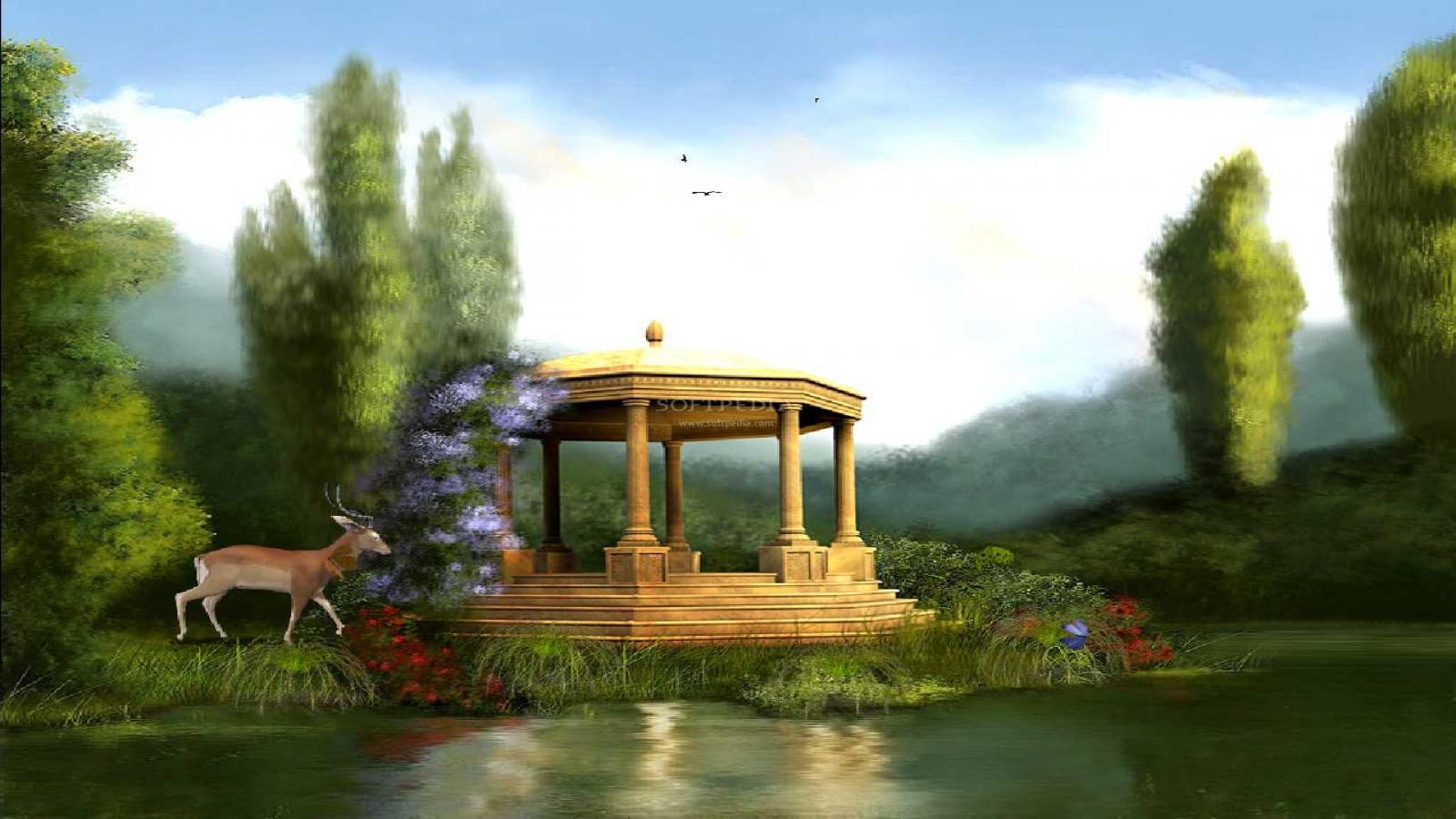 1600x900 px] Black Swan Lake Animated Screensaver Wallpaper 1600x900