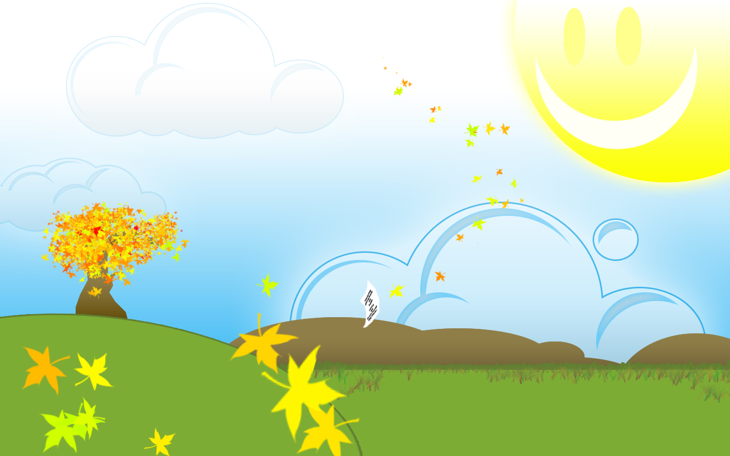 Bright Sunny Day Wallpaper