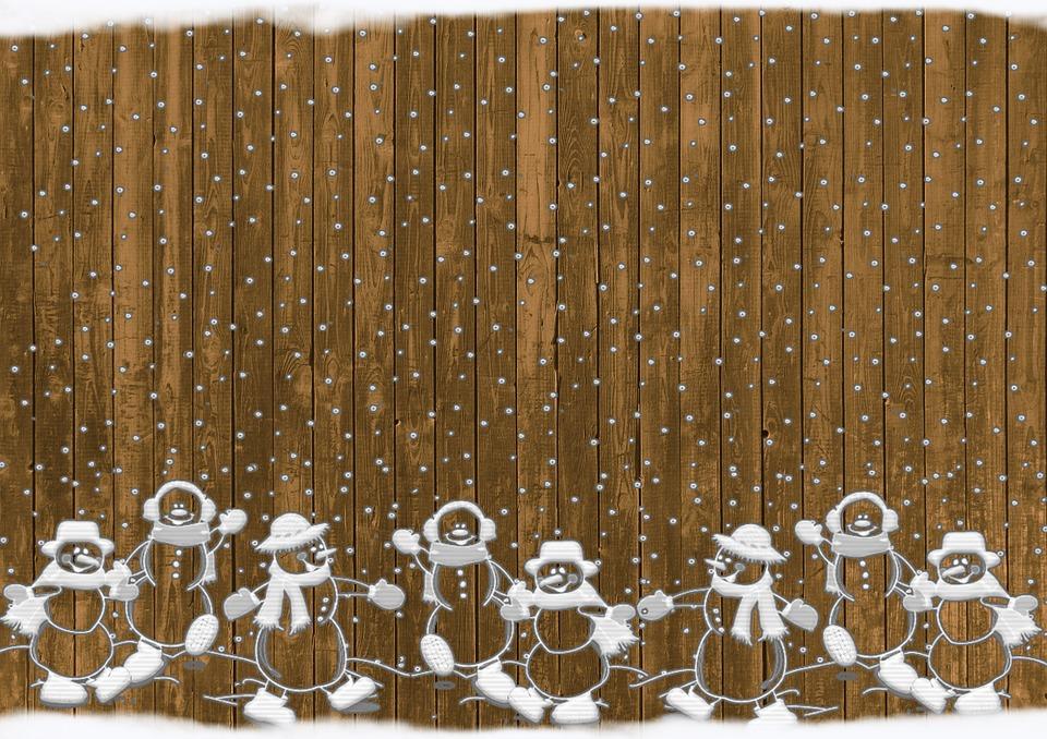 photo Background Rustic Snow Christmas Snowmen   Max Pixel 960x678