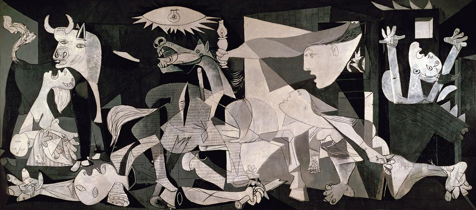Guernica 1937 at the Museo Reina Sofa in Madrid not part of the 965x427