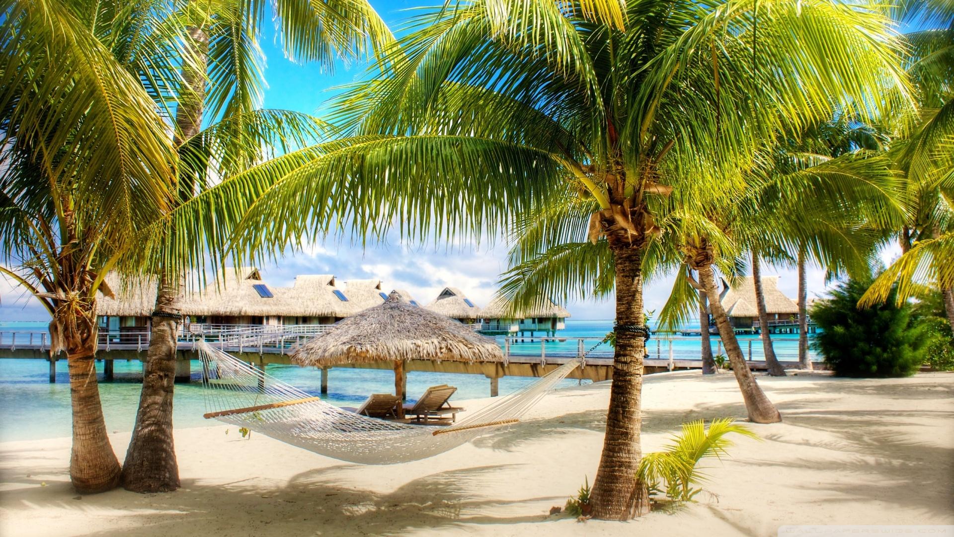 Tropical Beach Resort Wallpaper 1920x1080 Tropical Beach Resort 1920x1080