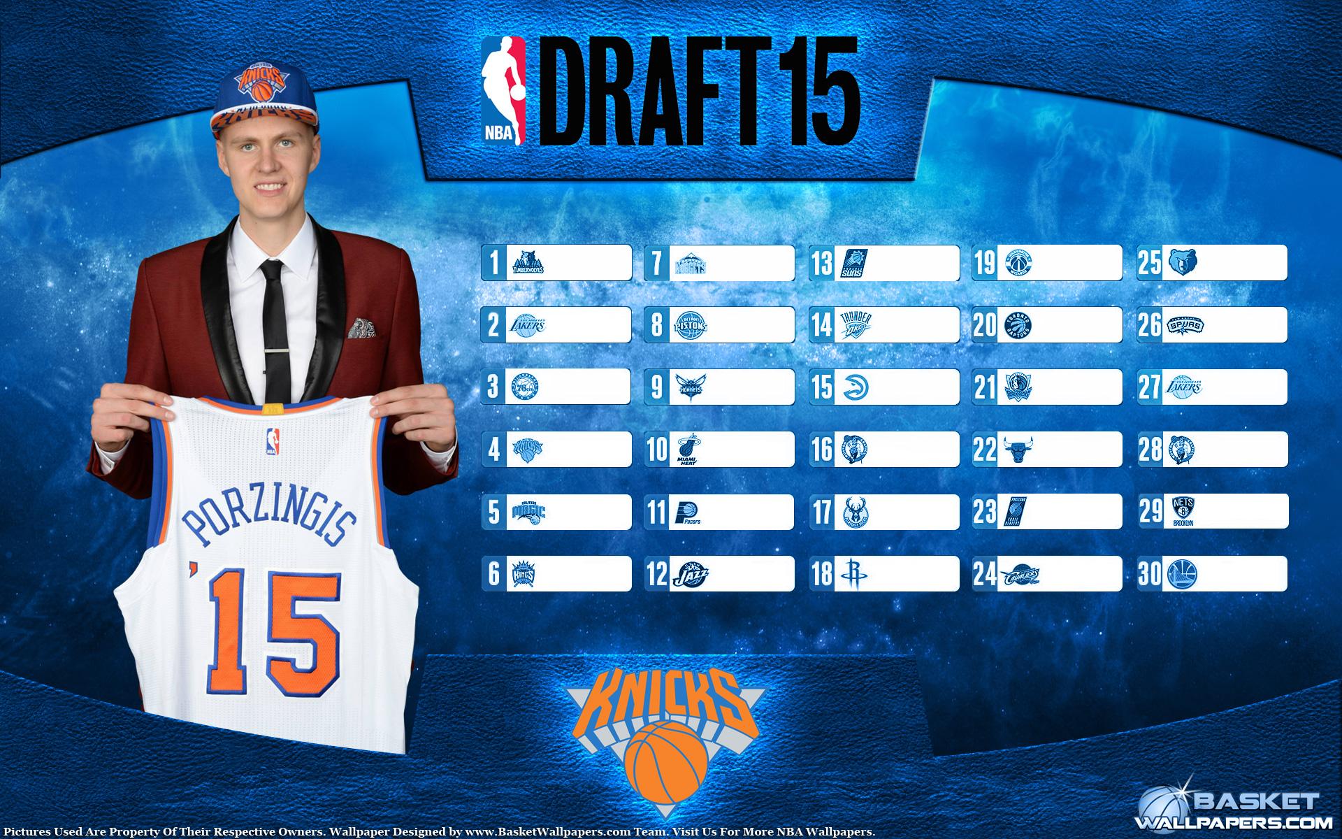 Kristaps Porzingis Knicks 2015 NBA Draft Wallpaper Basketball 1920x1200