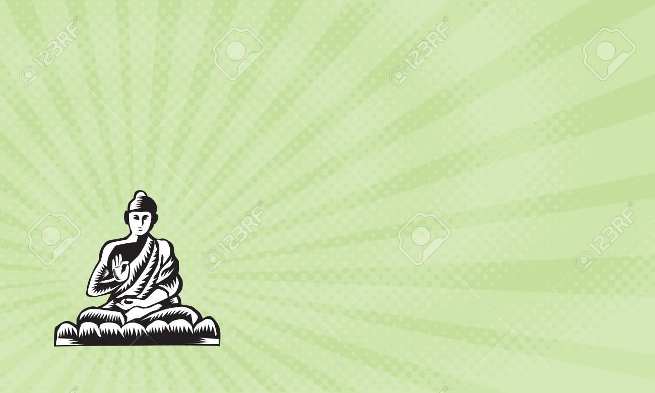 Business Card Showing Illustration Of A Gautama Buddha Siddhartha 1300x780
