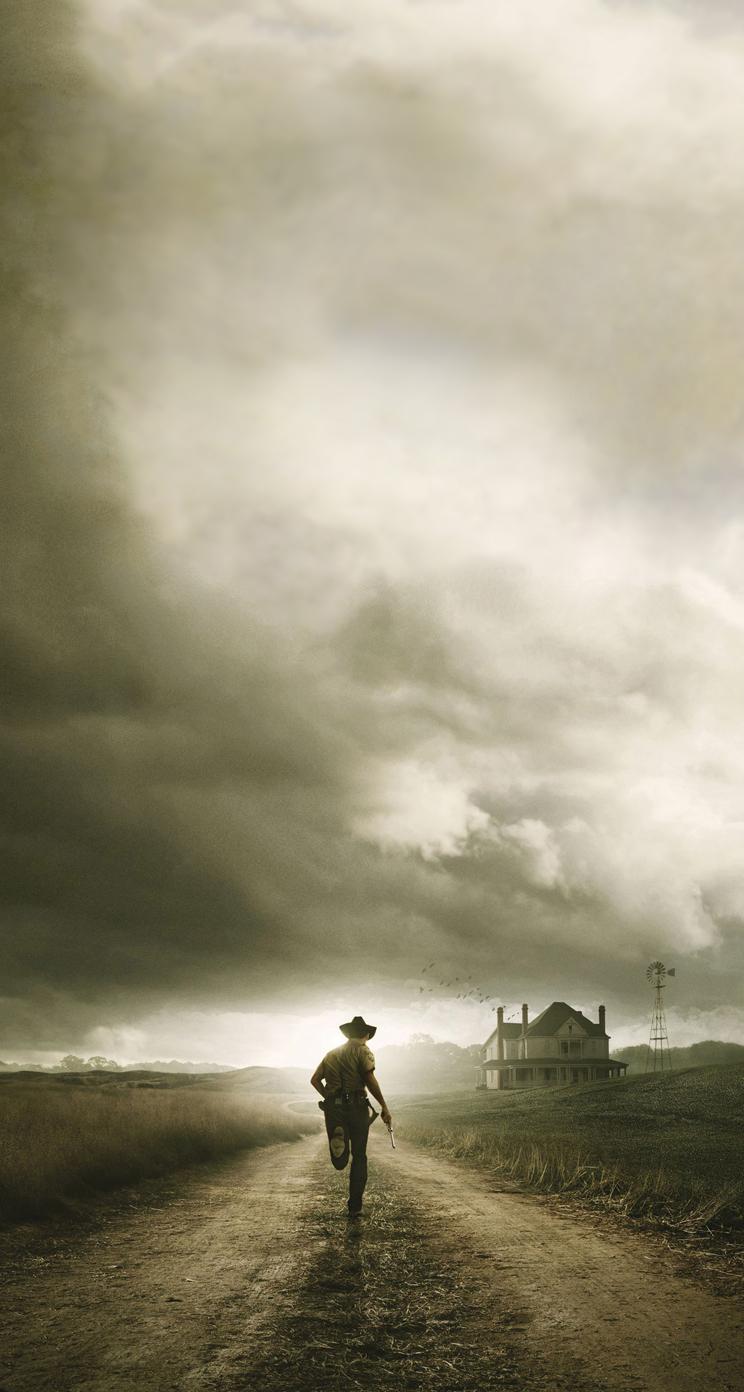 Walking Dead Carl iPhone 5 Parallax Wallpaper 744x1392 744x1392