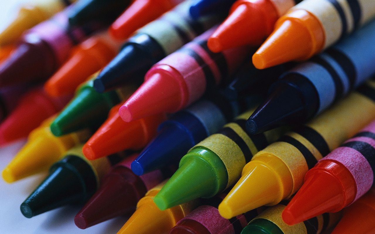 Colorful Crayons In Hand Wallpaper WallDevil