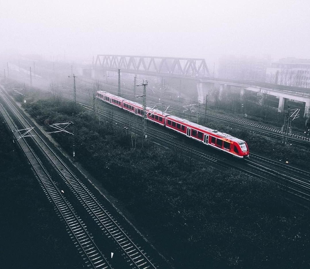 landscape Train Selective Coloring Deutsche Bahn Wallpapers HD 1080x936