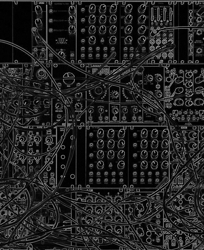 Analog Synthesizer   Modular Design   on black background iPad 652x800