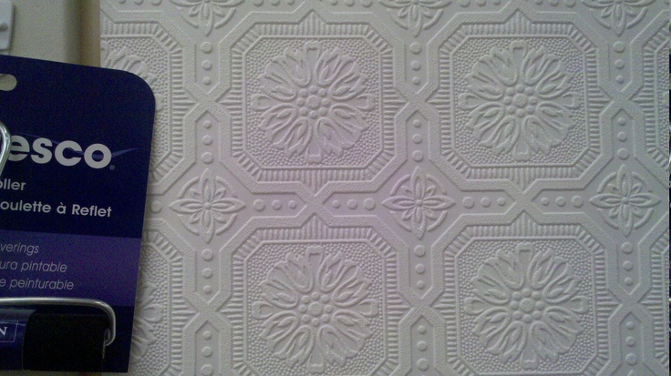 Paintable wallpaper 2397 per roll at Home Depot Canada 11 yards 736x413